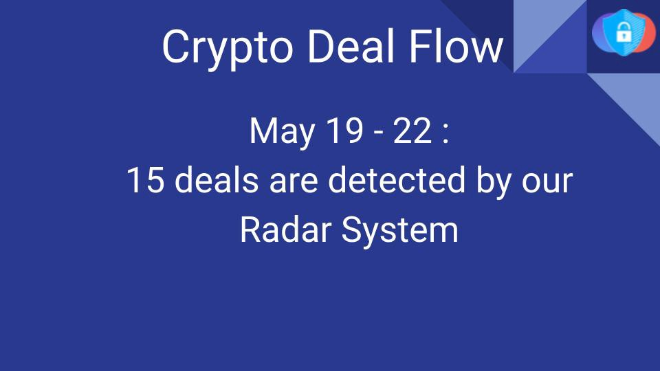 Crypto Deal Flow: May 19–22