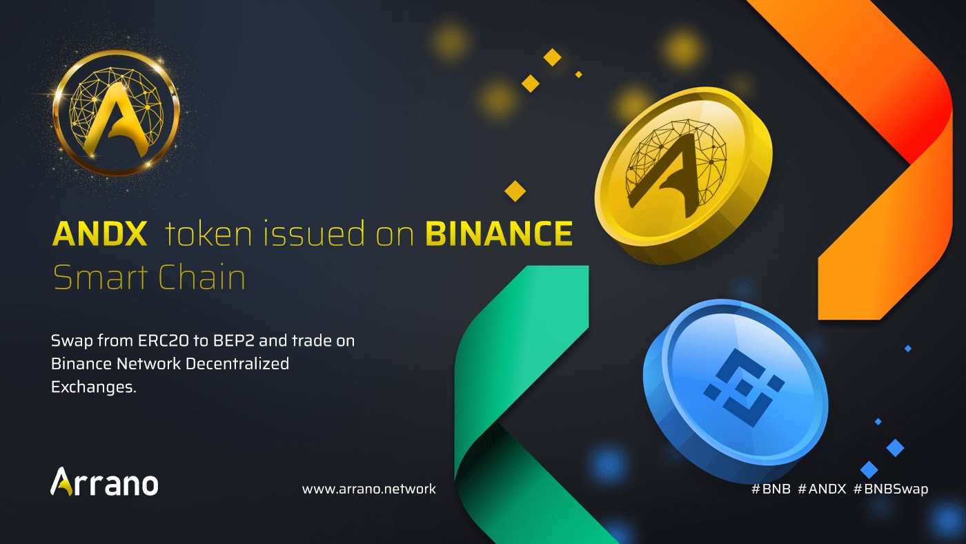 Arrano Network's ANDX token will issued on Binance Smart Chain ( BEP2) network. The platform will also held a Swap of ERC20 to BEP2 option for those who wish to switch their tokens. ANDX token will also be listed on Pancake swap and other bianance based Dex, for the first and then goes to Ethereum and Tron based exchanges.