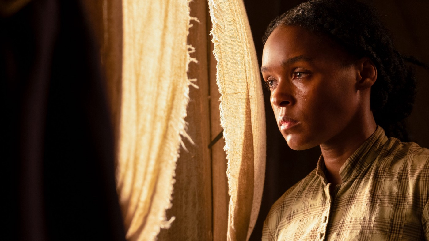 """Screenshot of Janelle Monae in a scene from """"Antebellum."""""""
