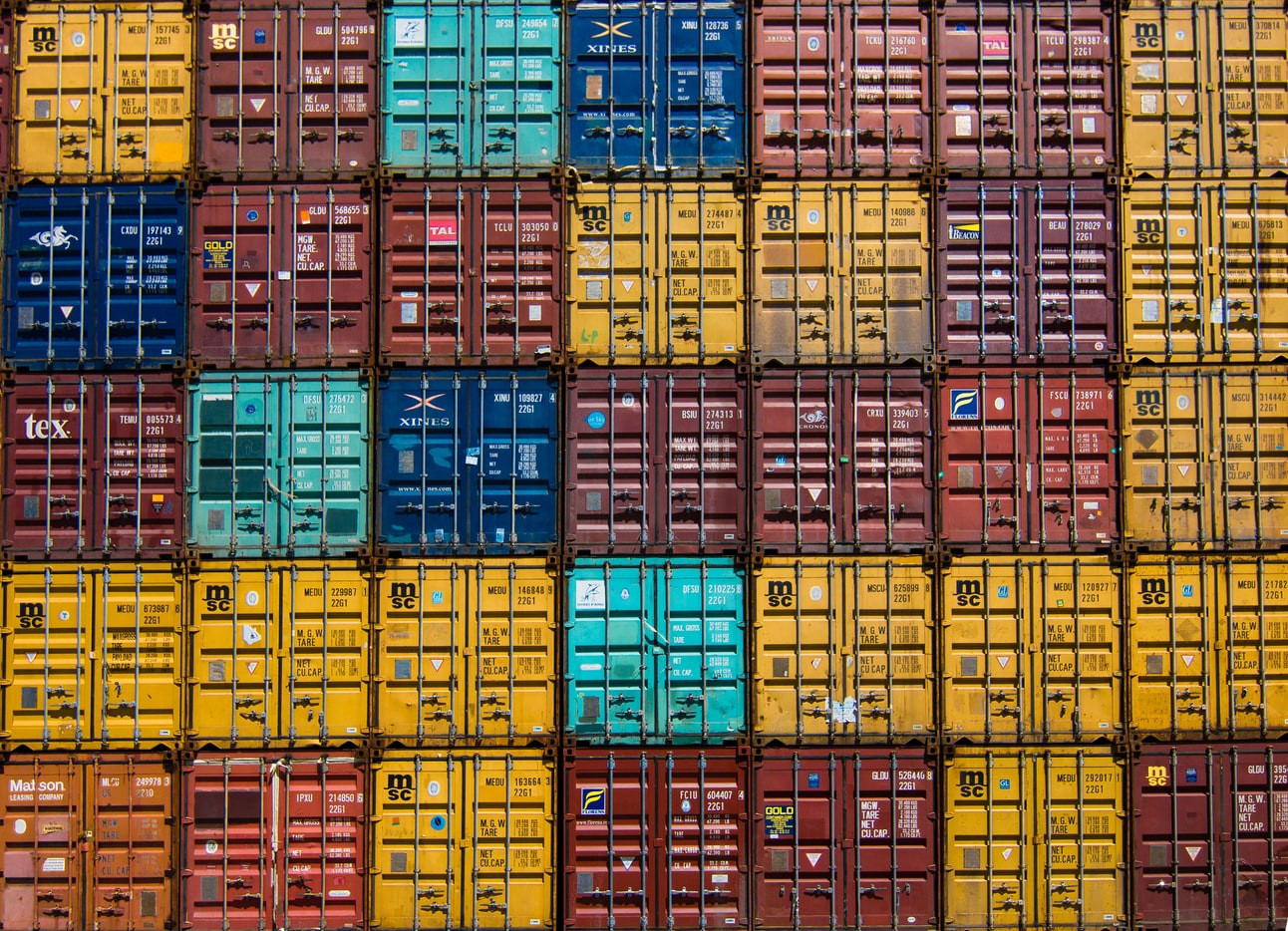 A stack of shipping containers