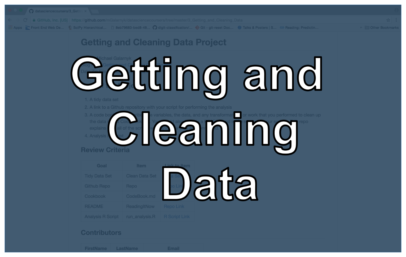 Getting and Cleaning Data (JHU Coursera, Course 3) - Towards Data