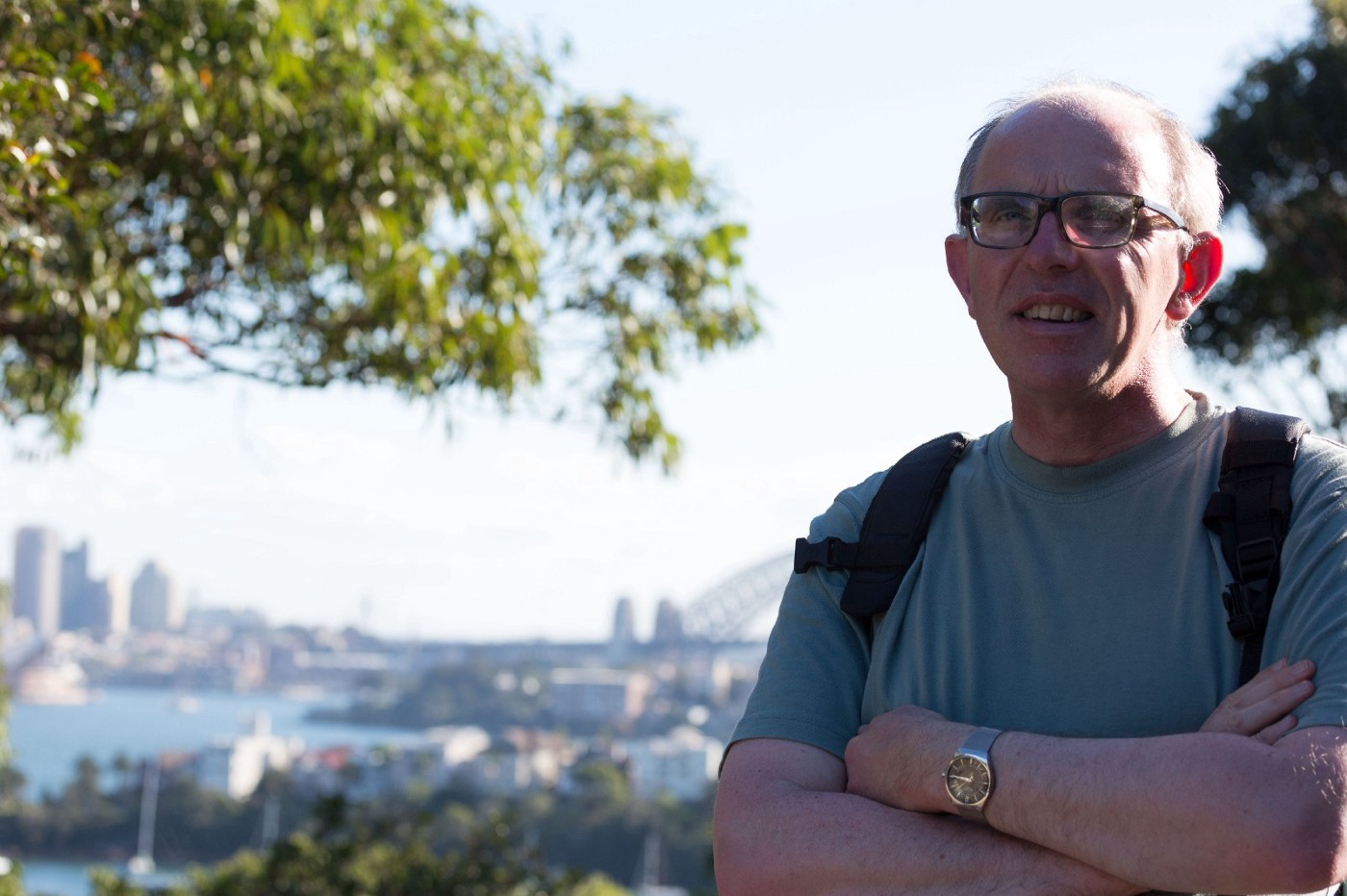 Photo of me with Sydney,  Australia in the background.