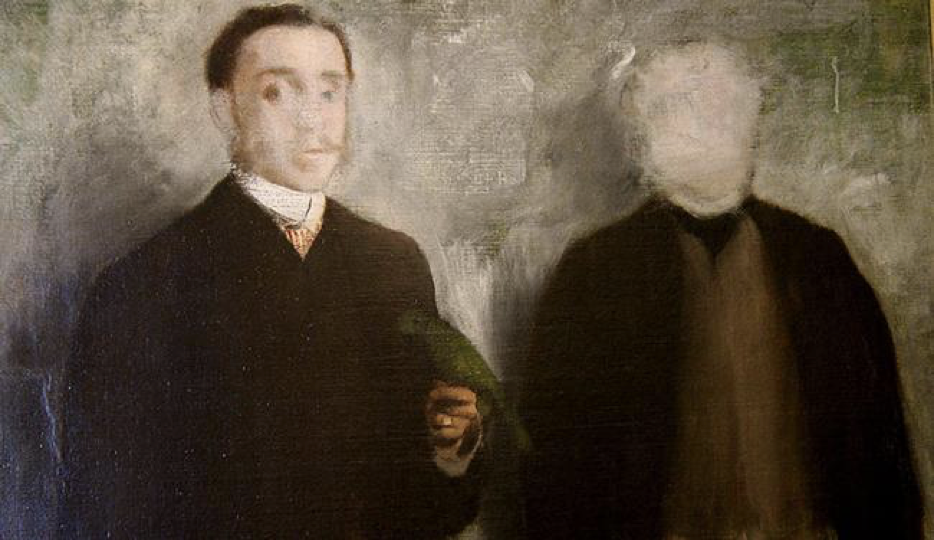 """A painting called """"Deux hommes en pied"""" by French painter Edgar Degas"""