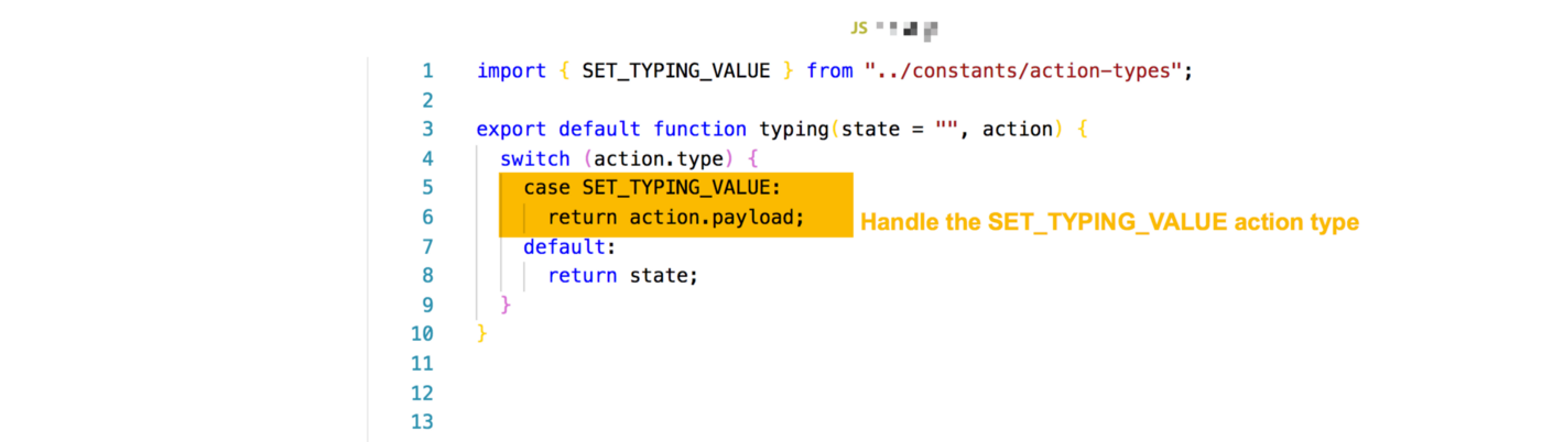 handle the SET_TYPING_VALUE type