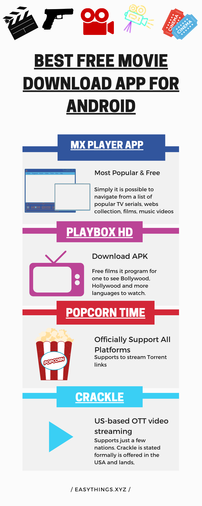 Best free movies app for android, watch free movies, tv shows and more content