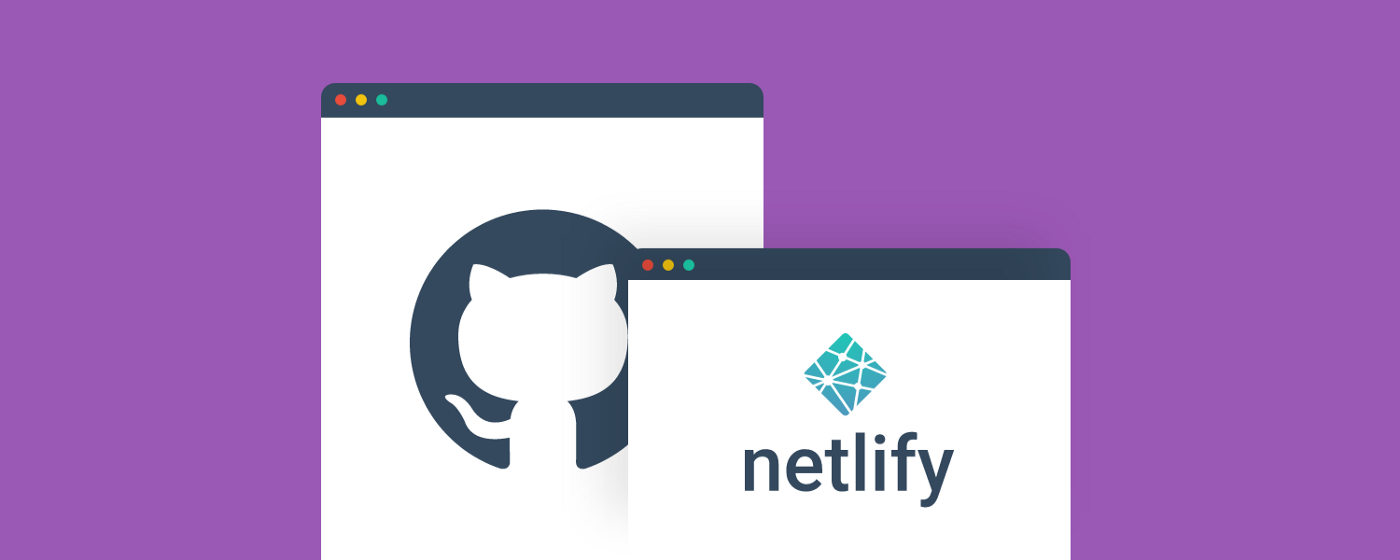 An illustration of Github pages and netlify