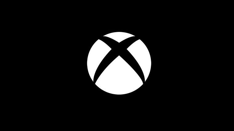 Xbox logo on black background