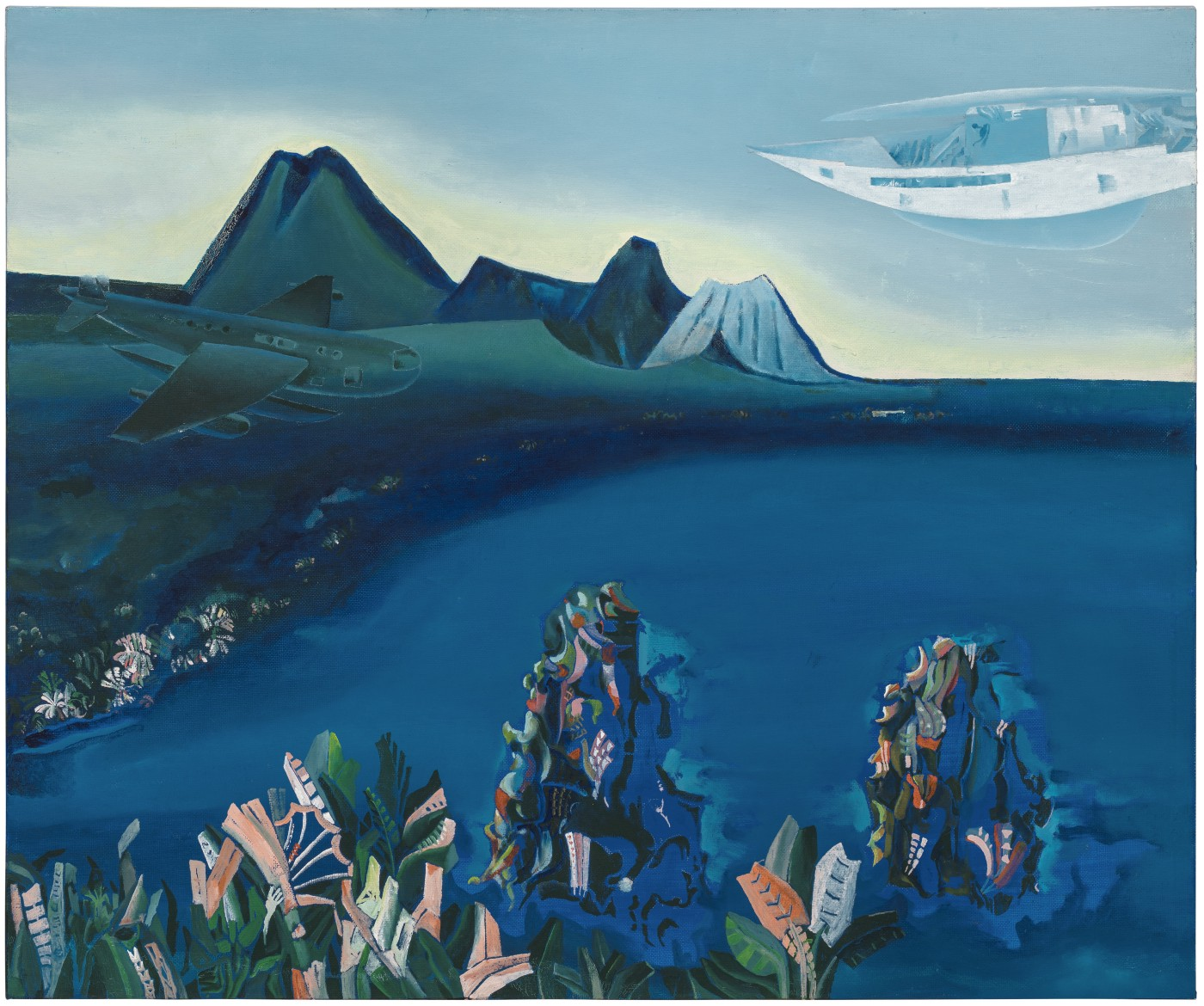 Dušan Marek, born Bítouchov, Czechoslovakia 1926, died Adelaide 1993, Rabaul revisited, 1992, Eden Hills, South Australia, oil, synthetic polymer paint on canvas on board, 50.7 x 61.0 x 4.4 cm; Private collection L/SAS/8 2