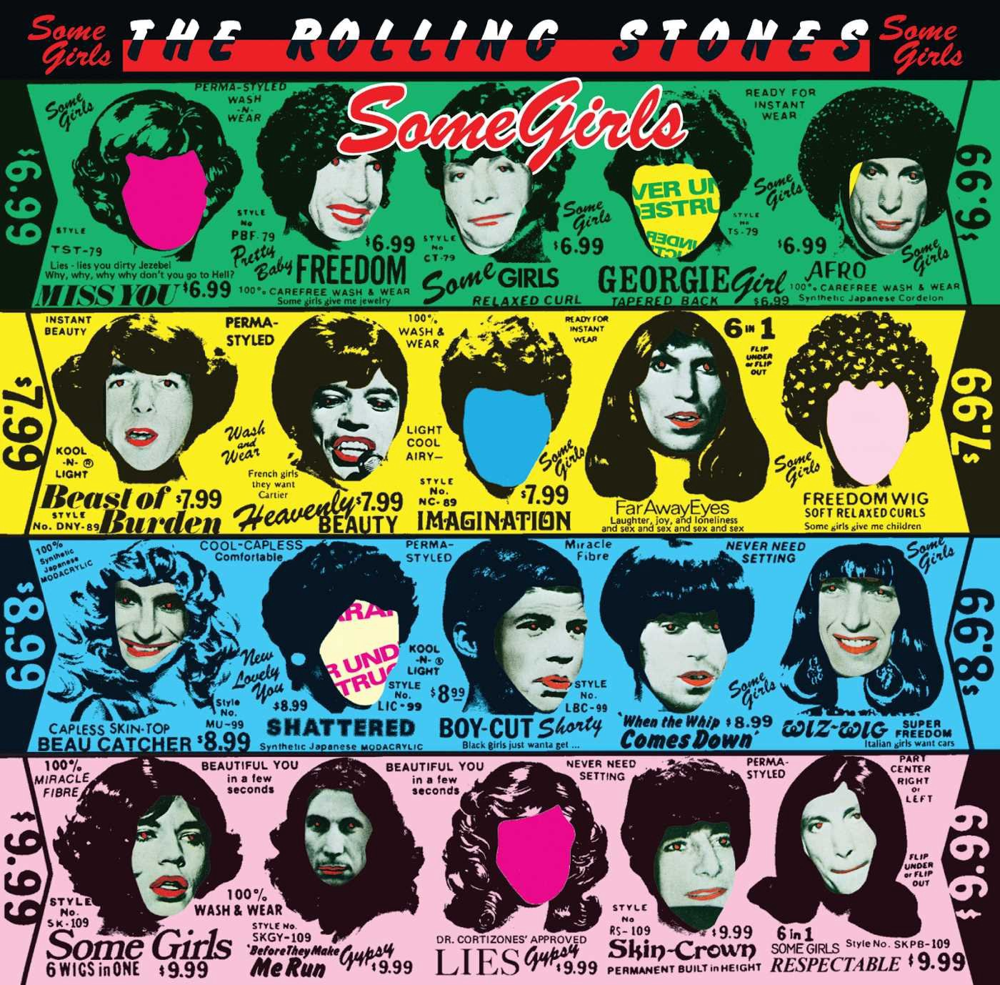 """Album cover for """"Some Girls"""" by The Rolling Stones"""