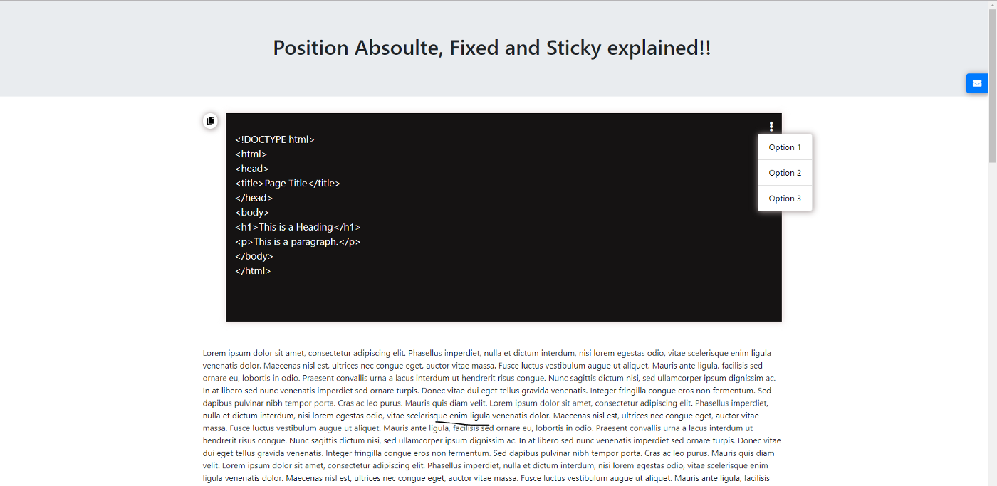 CSS Position fixed, sticky and absolute explained   by Rohini ...