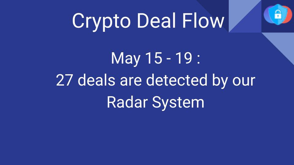 Crypto Deal Flow: May 15–19