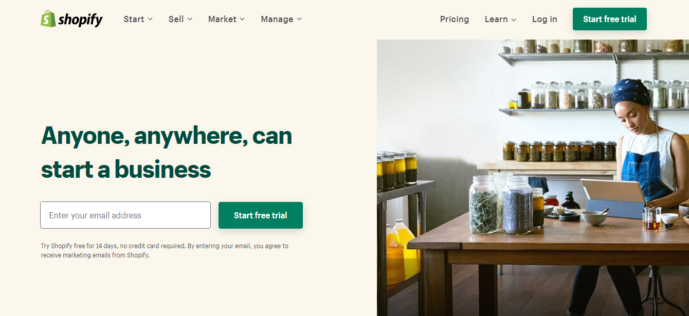 Shopify—A Popular Ecommerce Builder