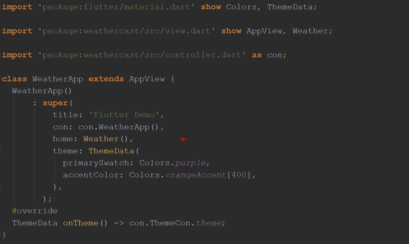 class WeatherApp constructor function.