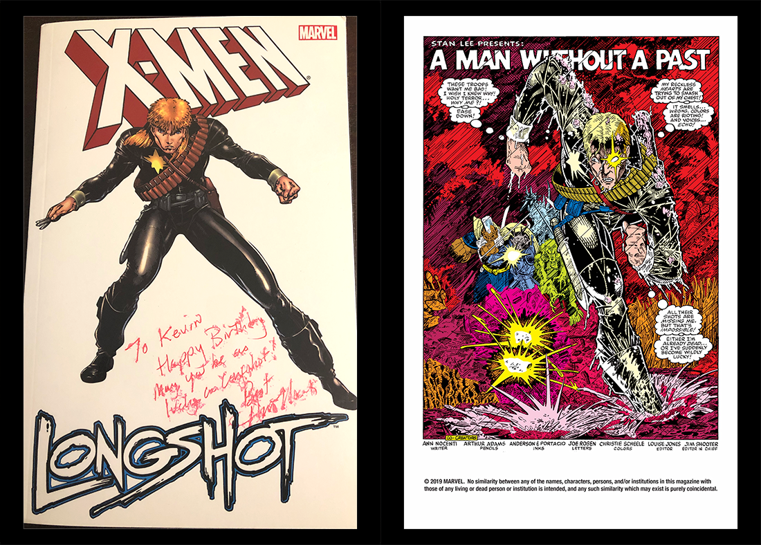 Copy of Longshot limited series signed by author, Annie Nocenti