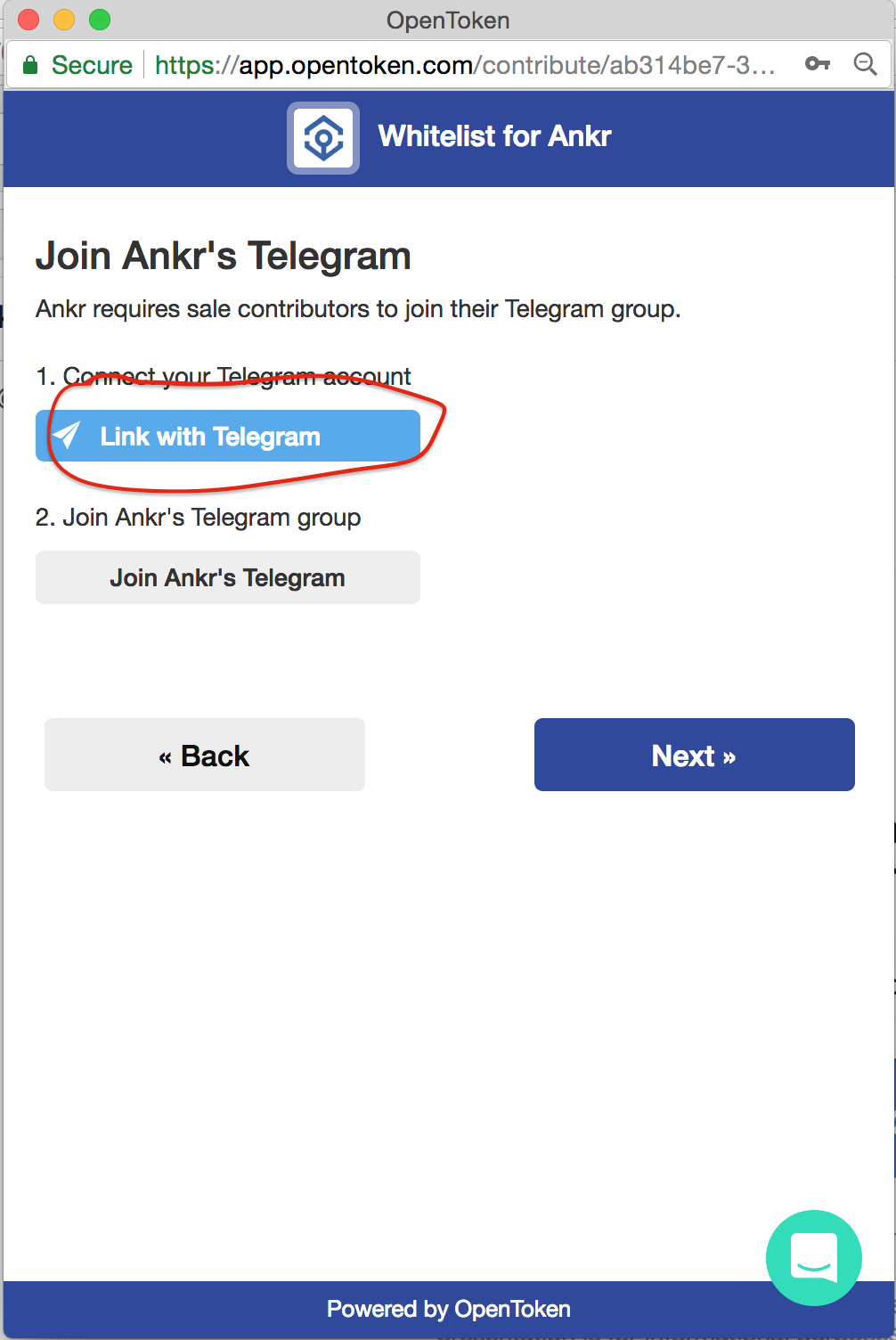 Ankr Whitelist — Linking Telegram - Daniel Chen - Medium