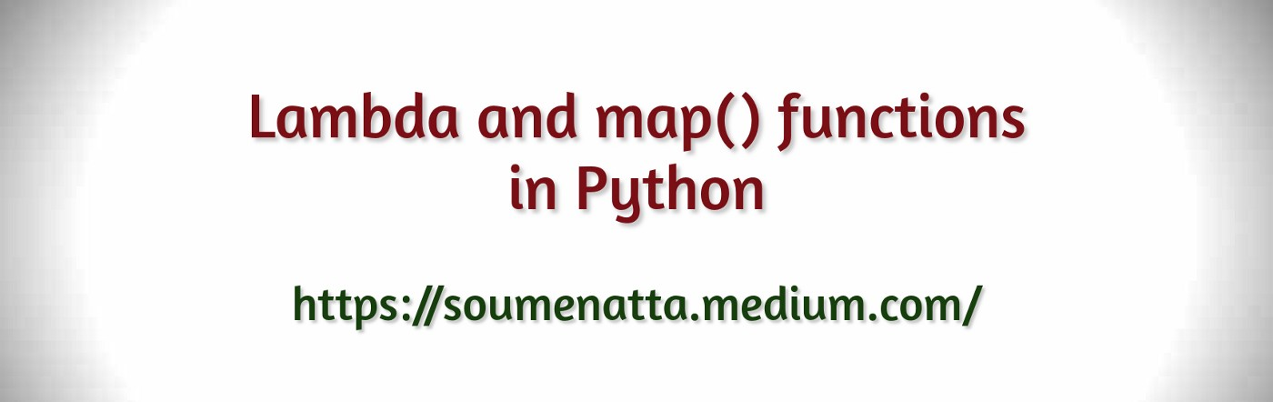 Lambda and map() functions in Python