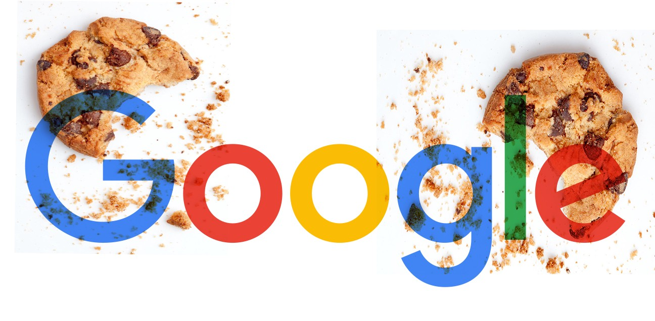 Google logo with cookies