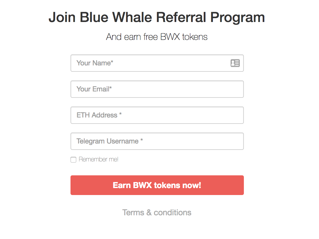 CLOSED — Sign up and join our telegram to get 400 BWX + 200 BWX for