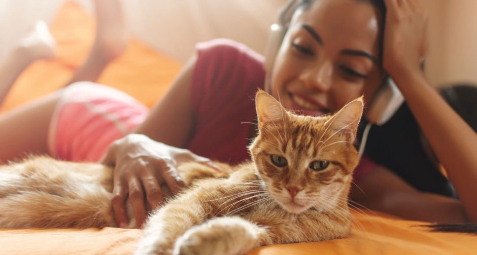 Carissa Chambers, 25, spends time with the third member of her relationship, Button.