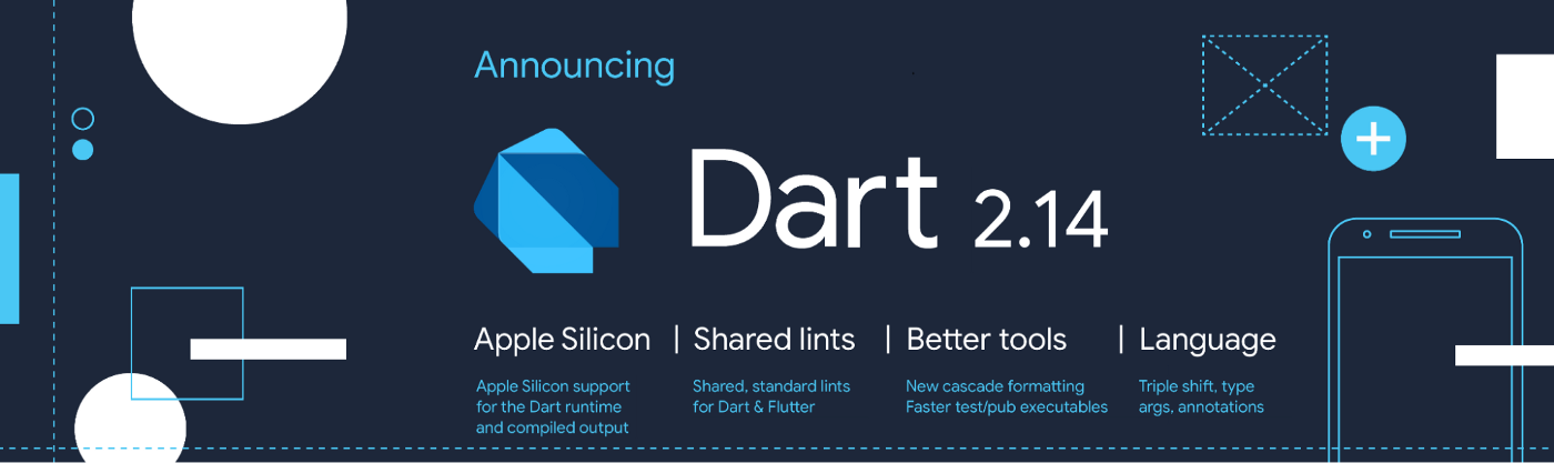 An illustration with text that summarizes the new 2.14 features