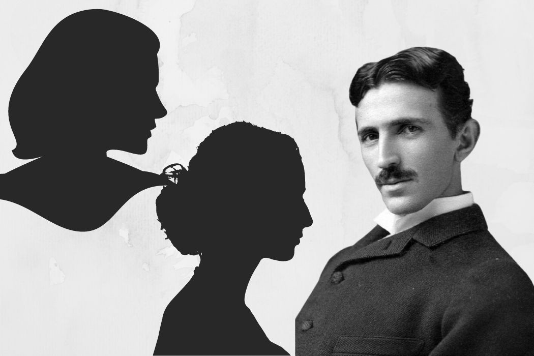 Nikola Tesla wasn't a man who lacked feelings — Two shadows of women beside the scientist