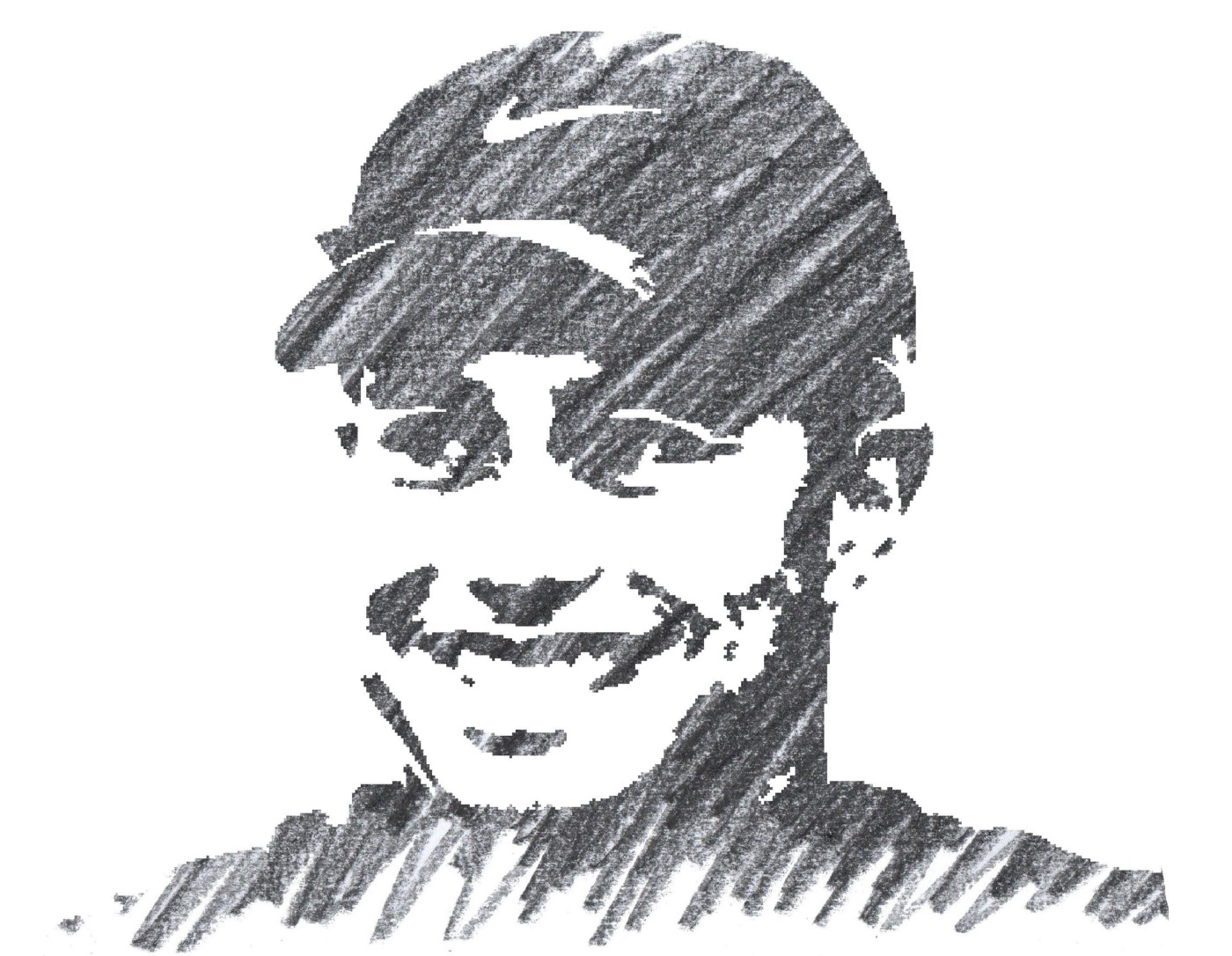 Drawing of Tiger Woods
