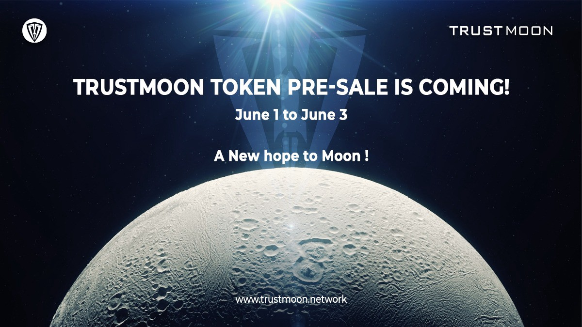 TrustMoon Token Presale is going to believe on June 1 and ends on June 3 2021. A total of 25% our of 1 Quadrillion tokens has been set to be presale and the remaining TRSUTMOON tokens will be burnt