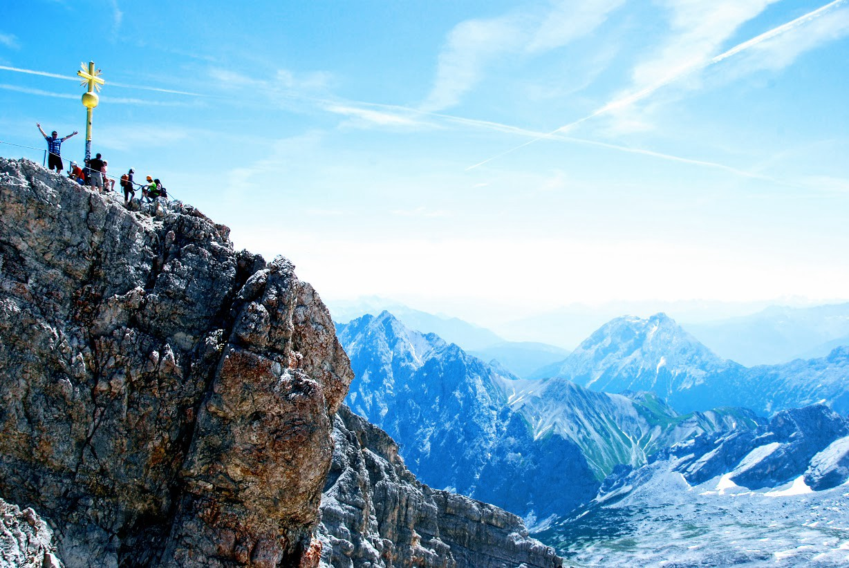 Zugspitze in the Alps.
