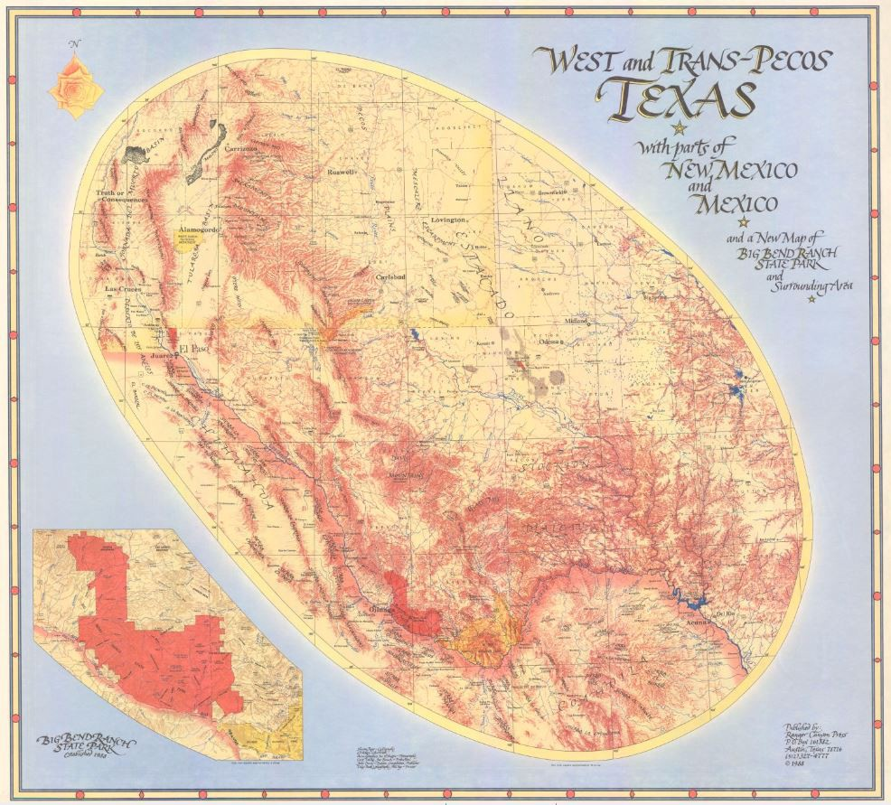 New Map Of Texas.My Favorite Map West And Trans Pecos Texas With Parts Of New Mexico