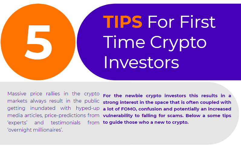 Top 5 tips for first time crypto investors.