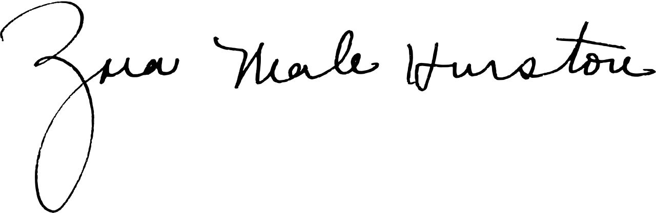 Zora Neale Hurston's full signature in black ink.