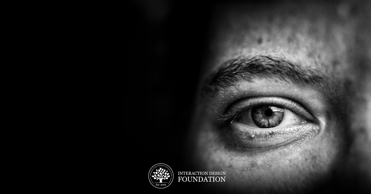 Black and White photograph of a person's eye