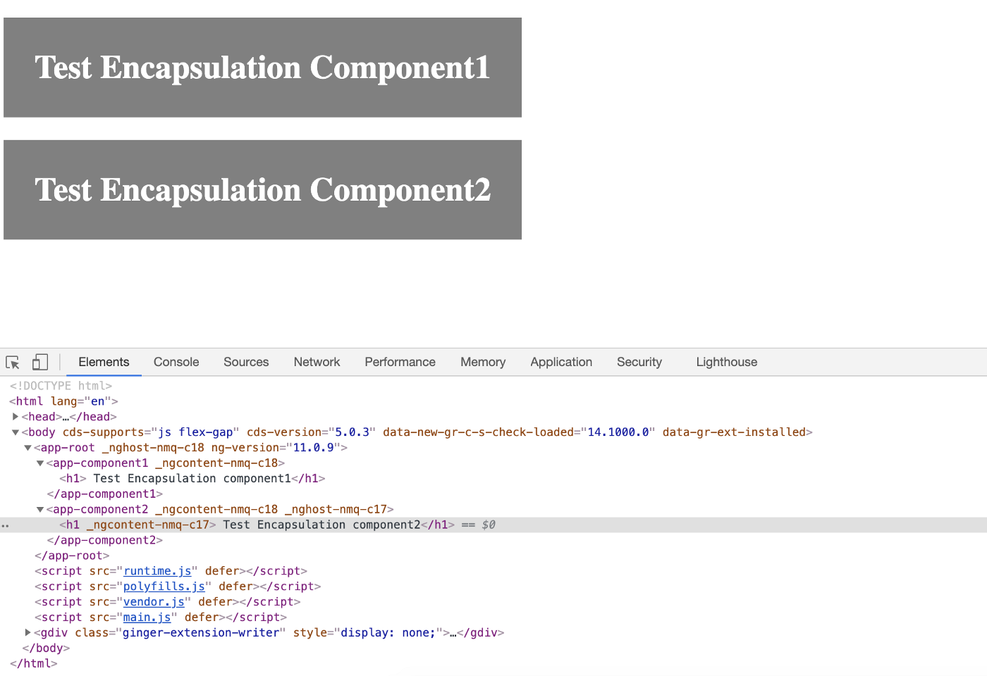 ViewEncapsulation.None, changes will reflect to both component