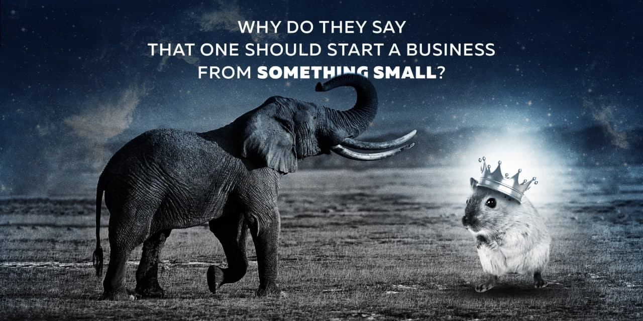 Why do they say that one should start a business from something small?