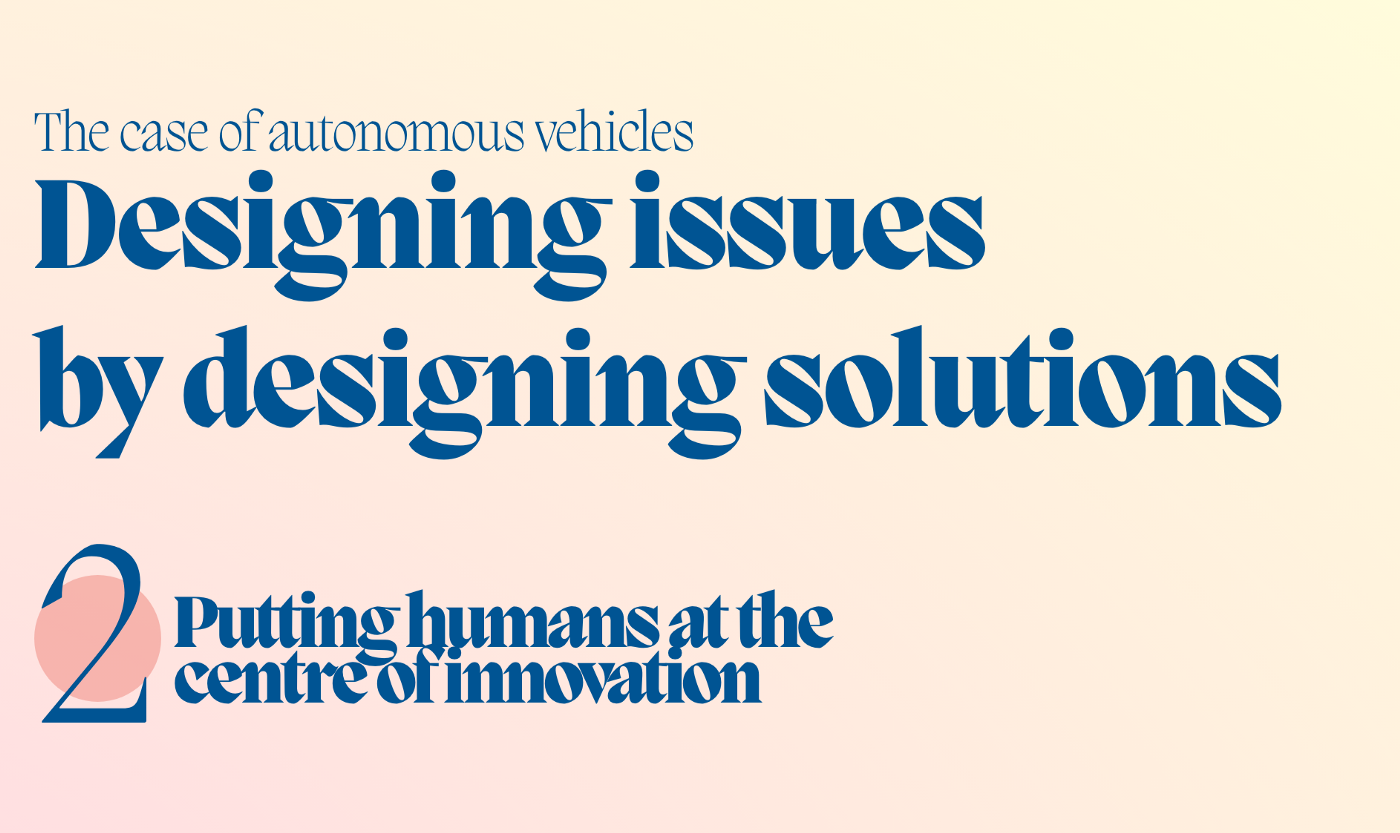 Header of article—Putting humans at the centre of innovation
