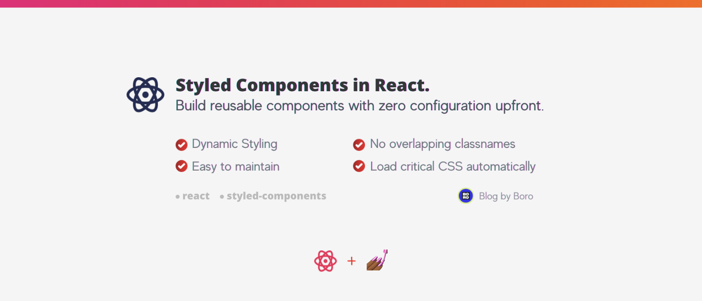 Styled Components in React