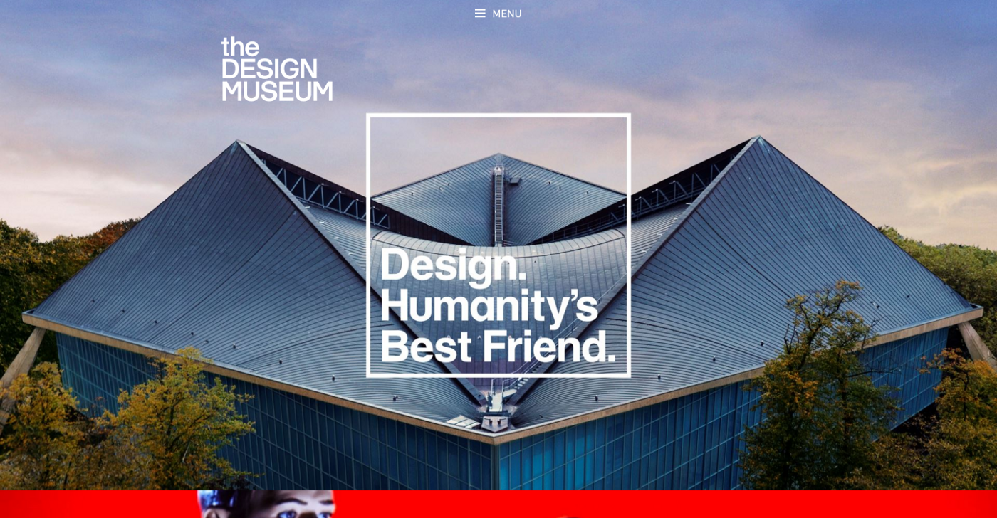 The Design Museum homepage