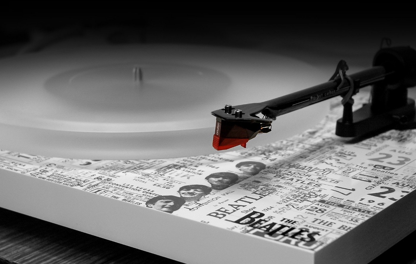 The Beatles and a turntable