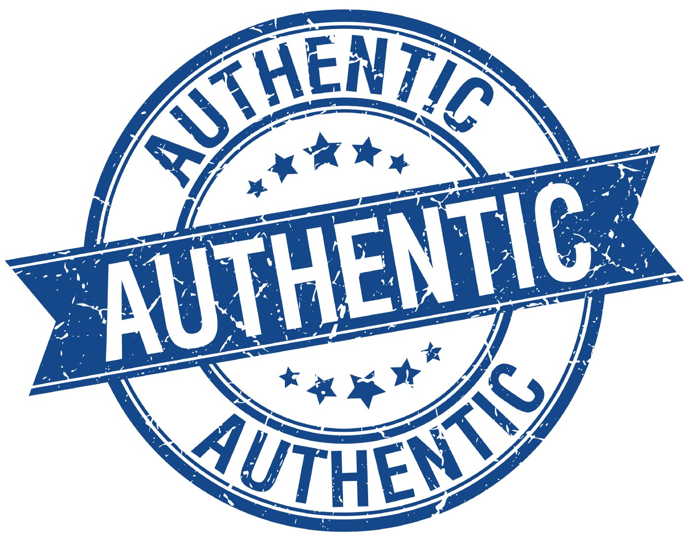 "Retro branding stamp with the word ""authentic""."