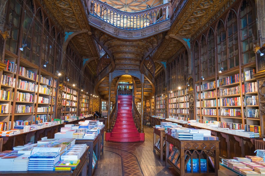 Livraria Lello, one of the oldest bookstores in Portugal.