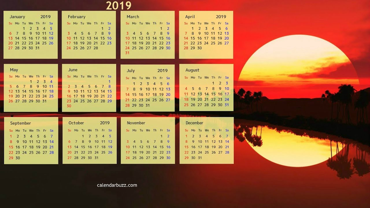 ENGLISH CALENDAR 2019 - Marry Steven - Medium