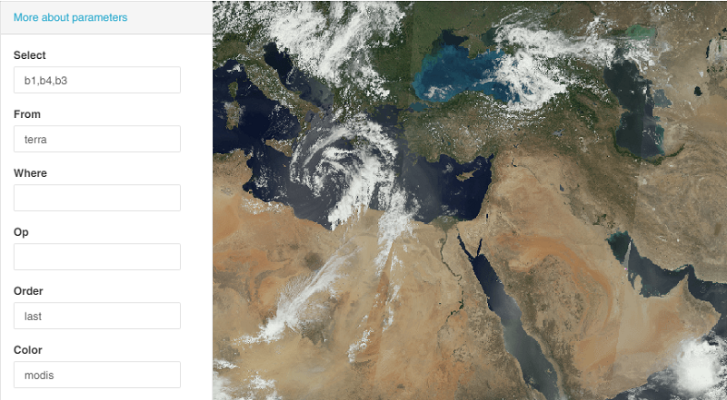 VANE images from any Earth observation satellites  Examples of queries