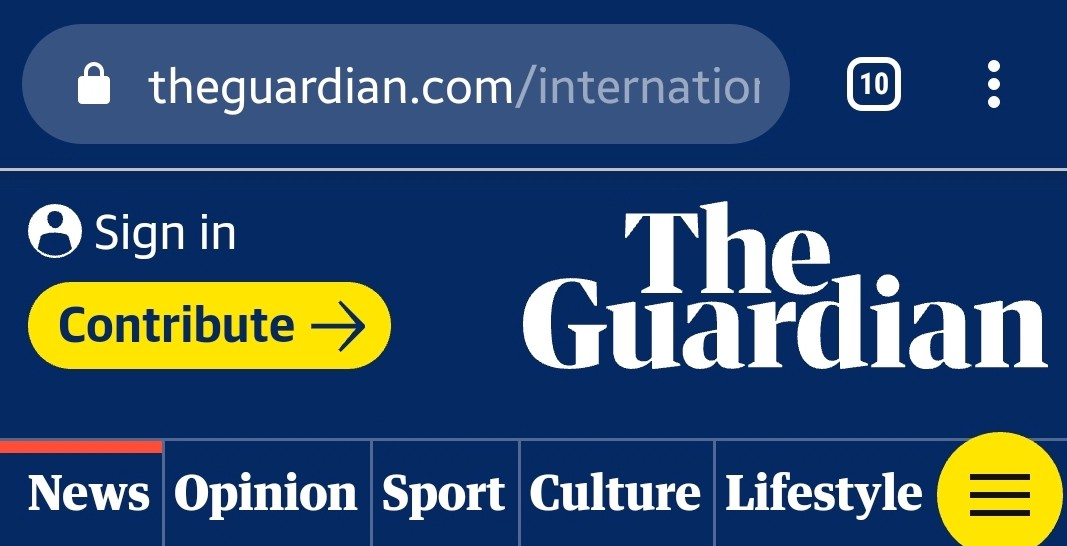 The Guardian's Website