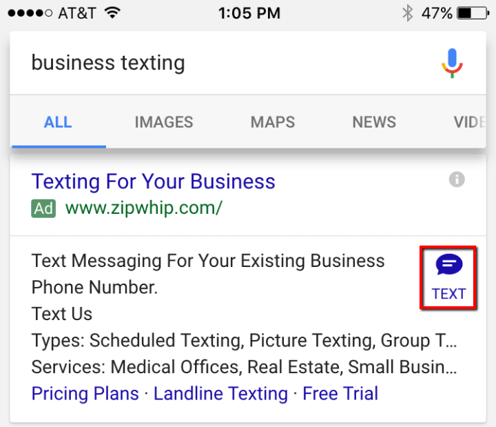 Google Introduces a New Adwords Extension- Click to Message