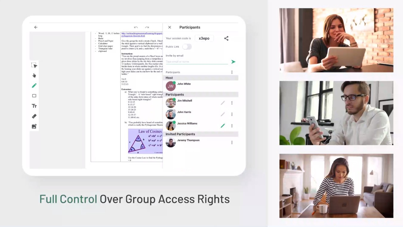 Liveboard multiplatform whiteboard application for classrooms and universities