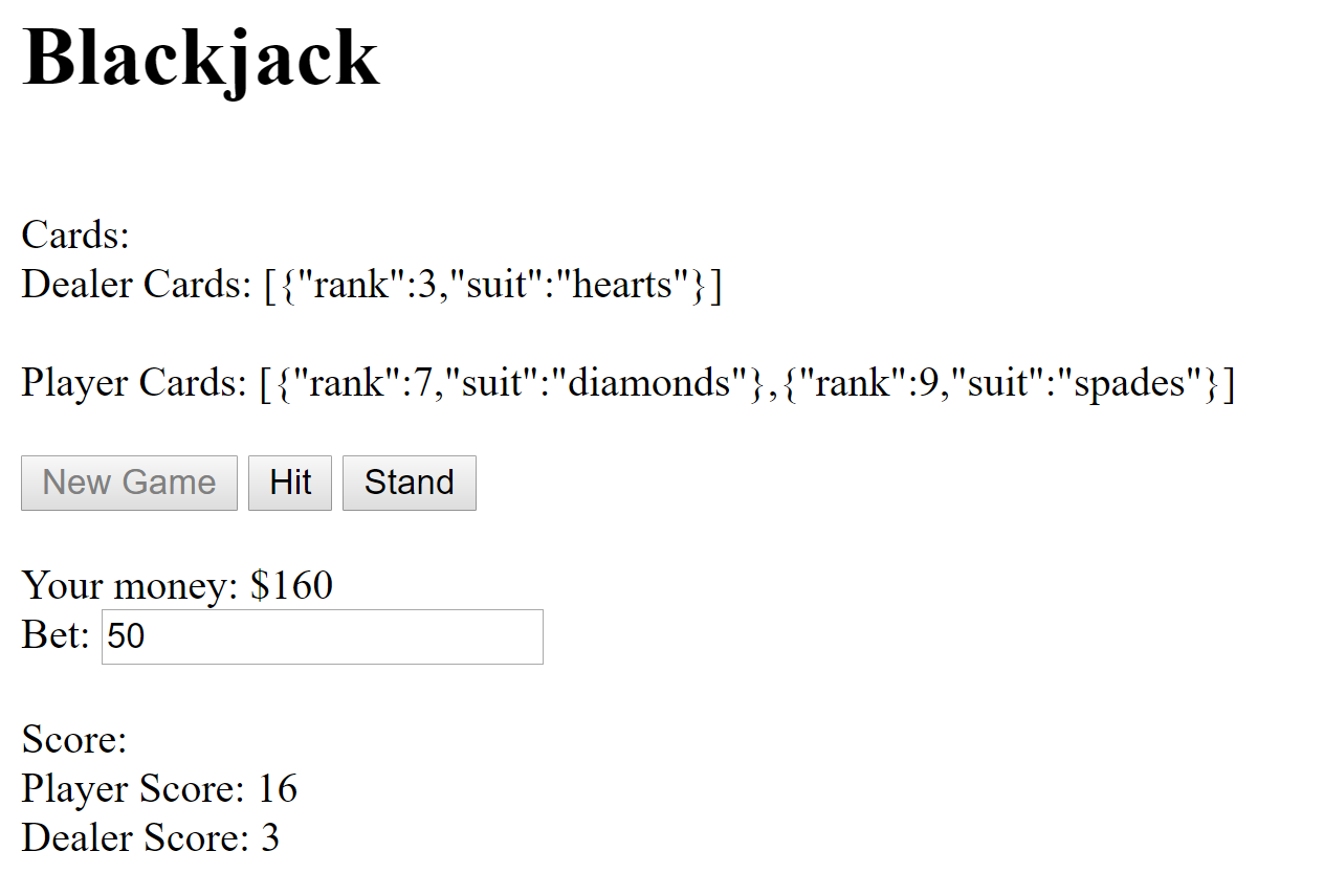 Making a Simple Blackjack Game With HTML and JavaScript