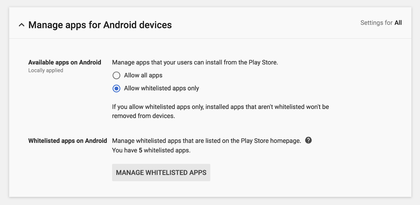 Enabling Full Functionality w/ G Suite Account (Android Apps