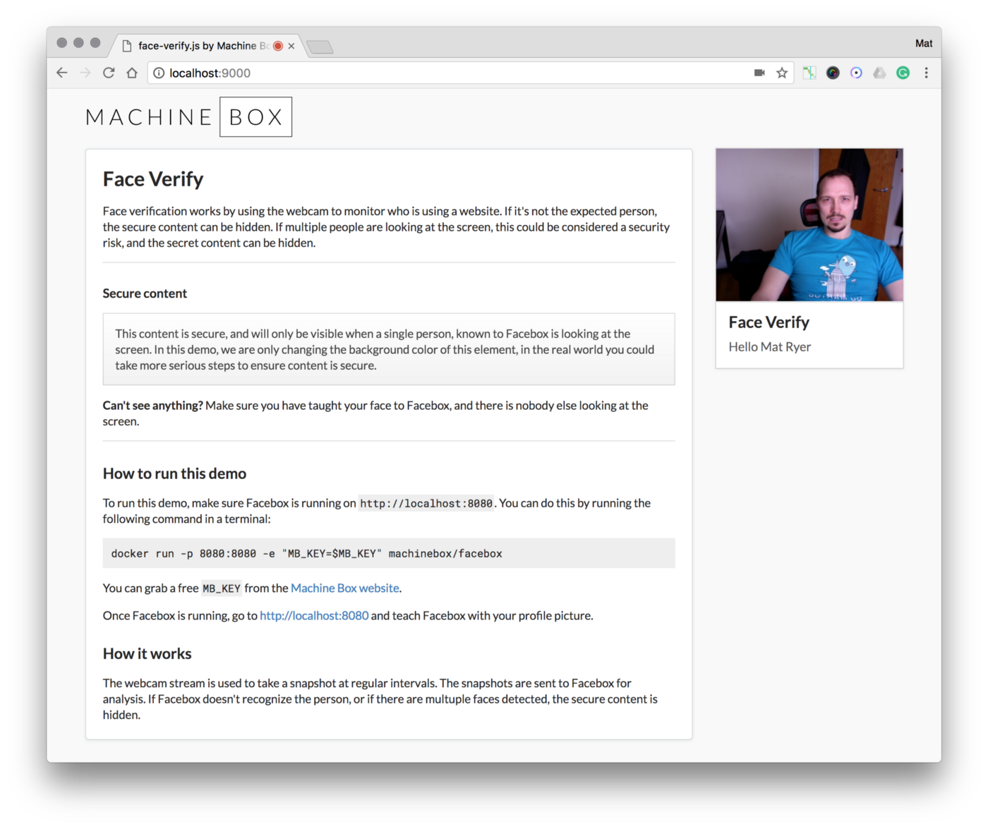 face-verify js: Monitoring who is physically looking at a website