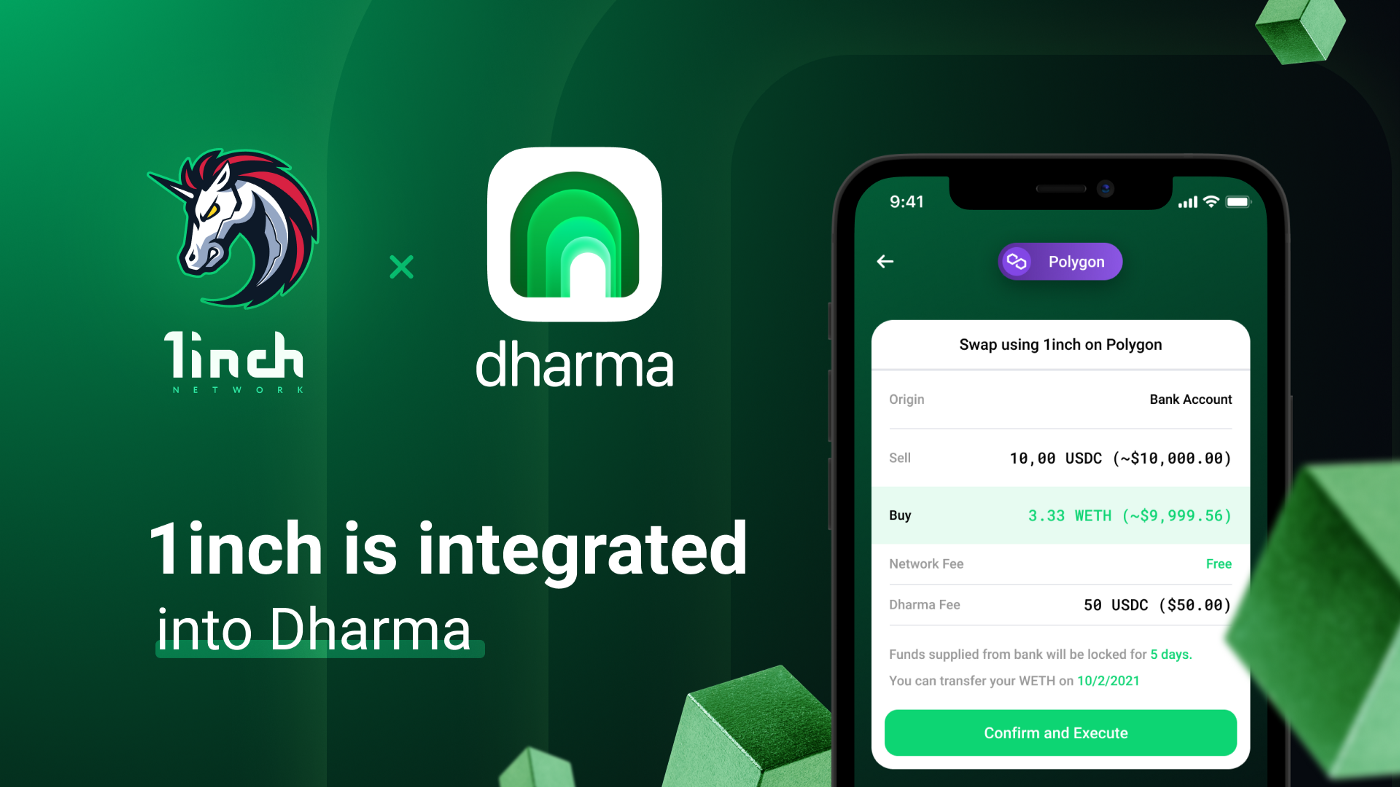 The 1inch Network is integrated into Dharma