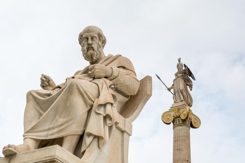 An image of the statue of Plato
